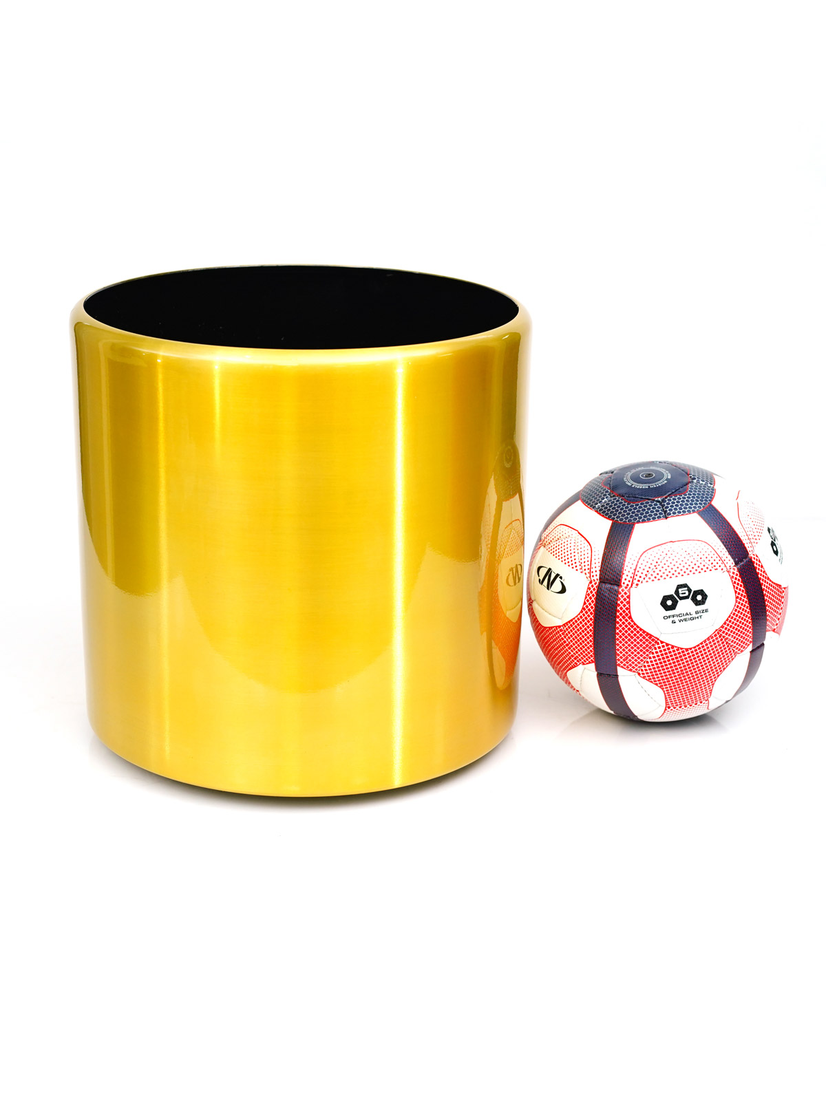 وعاء ألمنيوم مع عجلة أواني و مزهريات وعاء معدني
