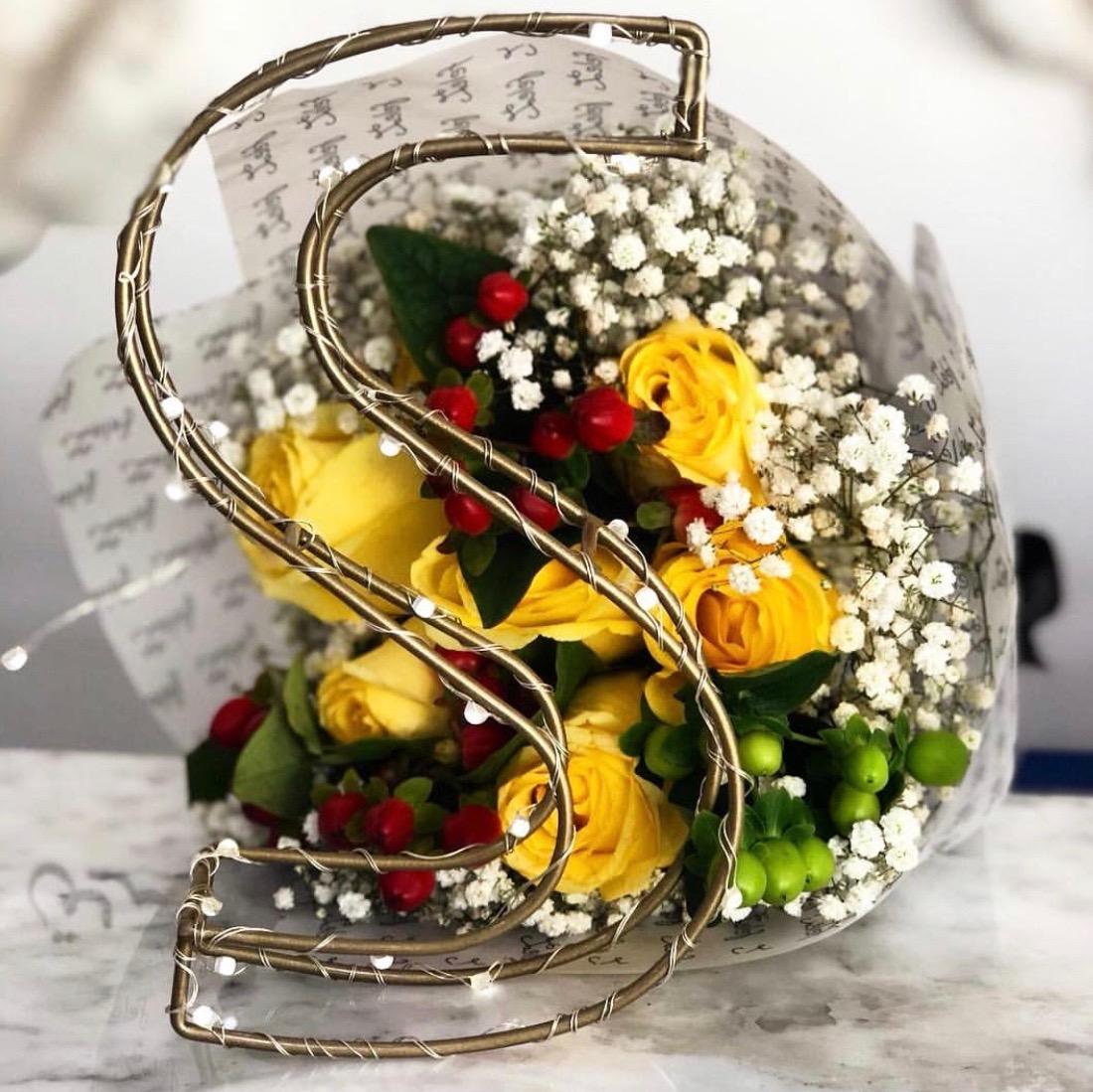 Light Letter 'Bouquets Bouquets