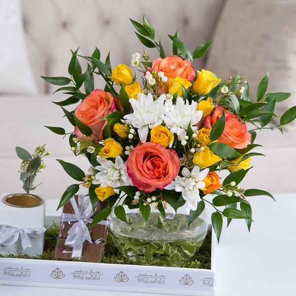 سكايلر زهور مع قاعدة زهور مع قاعدة
