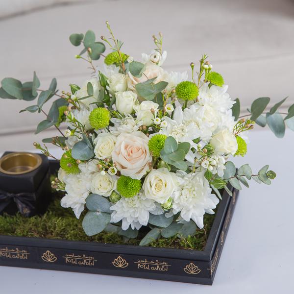 نيفا 'زهور مع قاعدة زهور مع قاعدة