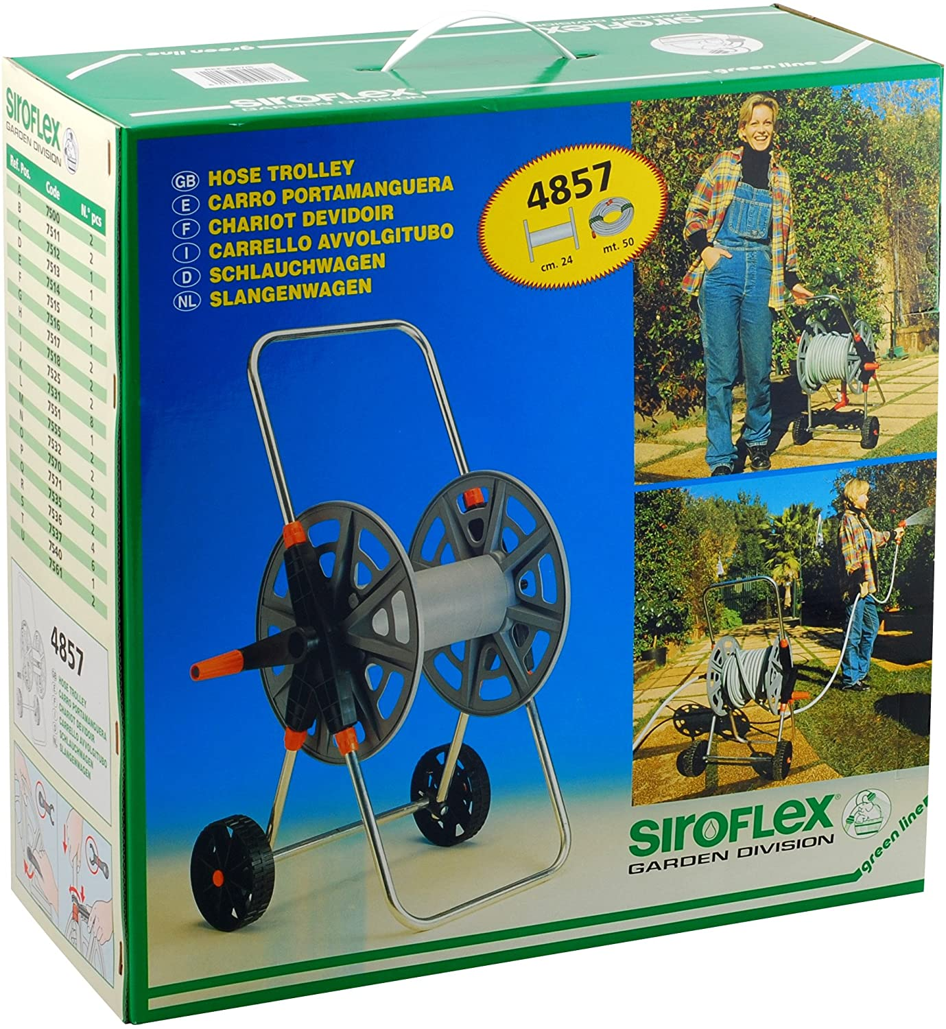 Hose Reel 50m With Wheels 4857 Gardening Accessories Irrigation System
