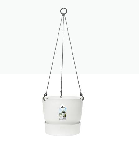 Greenville Hanging Basket 24cm White 'Pots & Vases Plastic Pots