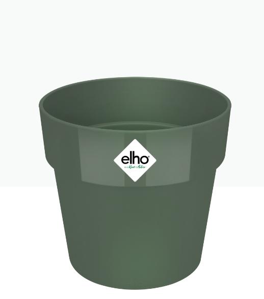 وعاء دائري - أخضر 'أواني و مزهريات أواني بلاستيكية