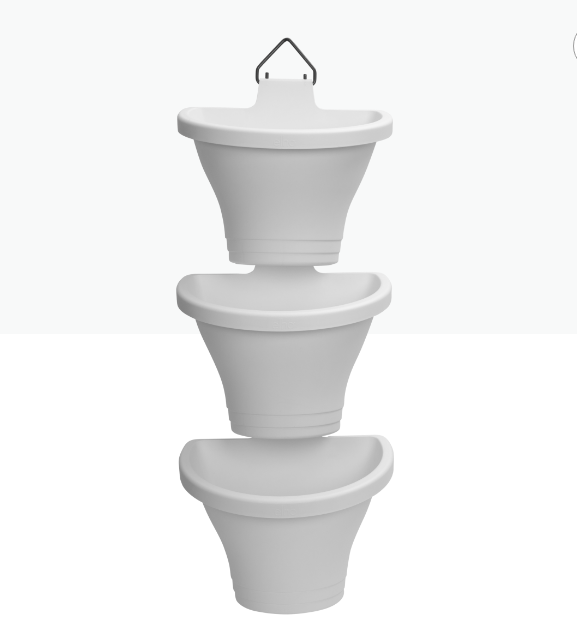 Corsica Vertical Forest 24cm White 'Pots & Vases Plastic Pots
