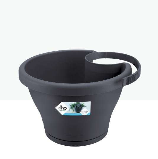 Corsica Drainpipe Clicker 24cm Anthracite 'Pots & Vases Plastic Pots