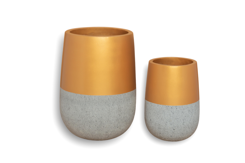 Top Gold (35*23 CM) Pots & Vases Concrete pots