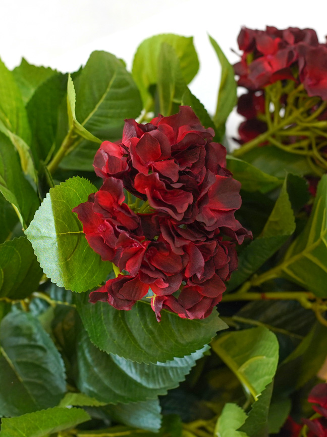 Hydrangea ( Red) Artificial Plants Flower