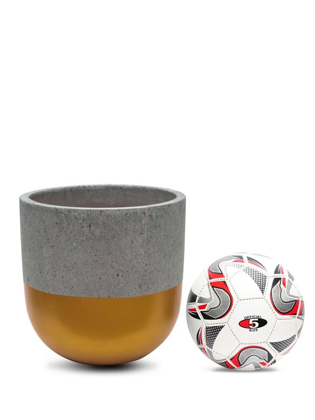 BTM Pot Gold (30 cm) Pots & Vases Concrete pots