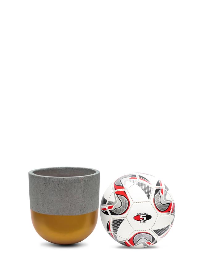 BTM Pot Gold (20 cm) Pots & Vases Concrete pots