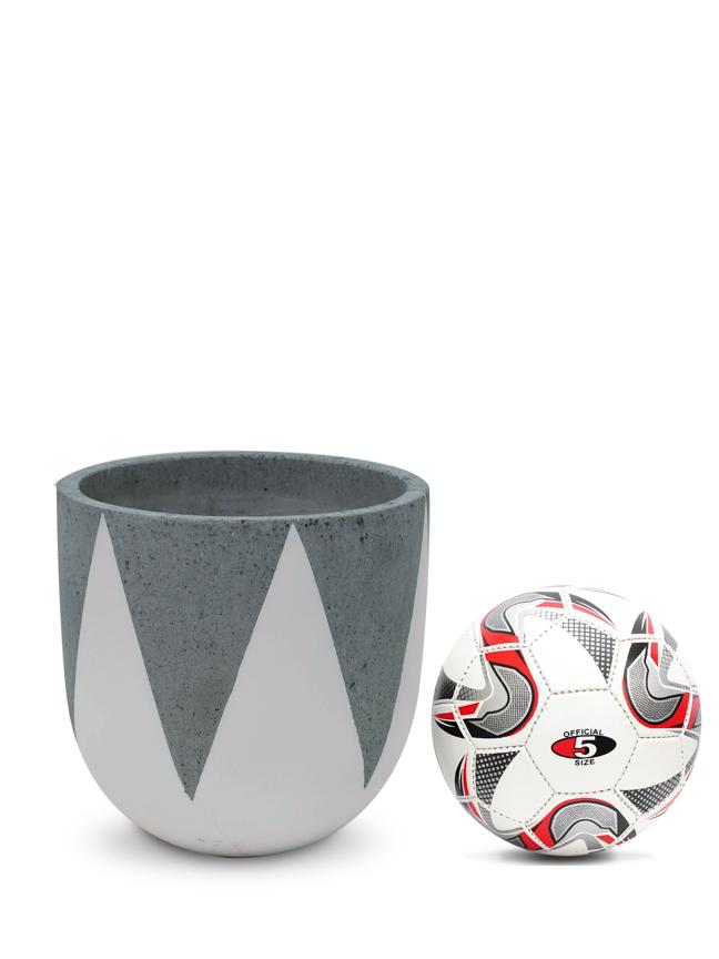 Crown White (30 CM) Pots & Vases Concrete pots