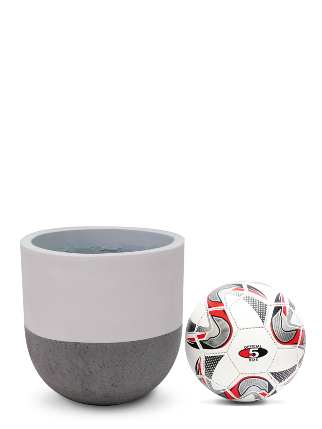 Top Pot White (30cm) Pots & Vases Concrete pots