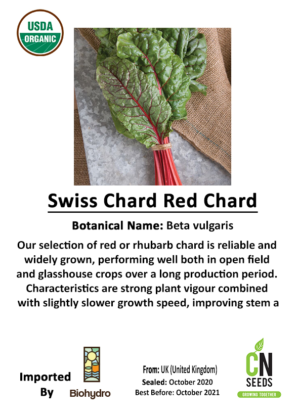 SWISS CHARD RED CHARD 'Seeds Fruits and Vegetables