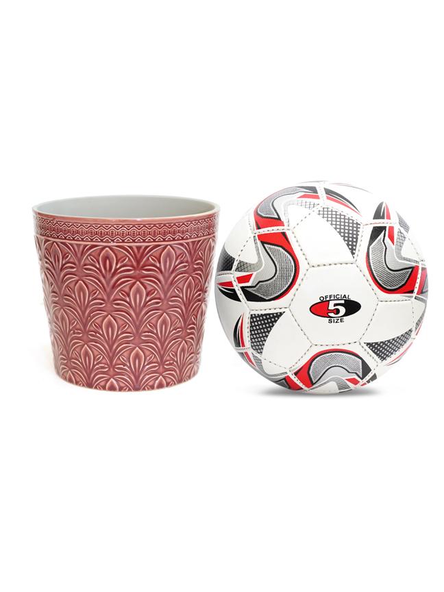 Duke Pot Round D. Pink 18.5 'Pots & Vases Ceramic Pots