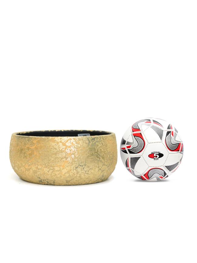 Clemente Bowl Round Gold  'Pots & Vases Ceramic Pots