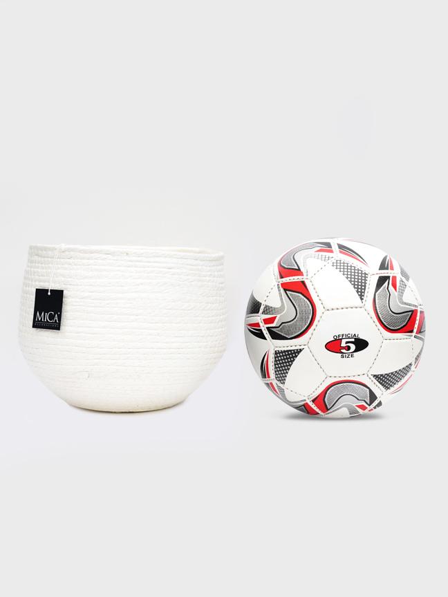 Jorck basket round off white 22 Pots & Vases Fabric Pots