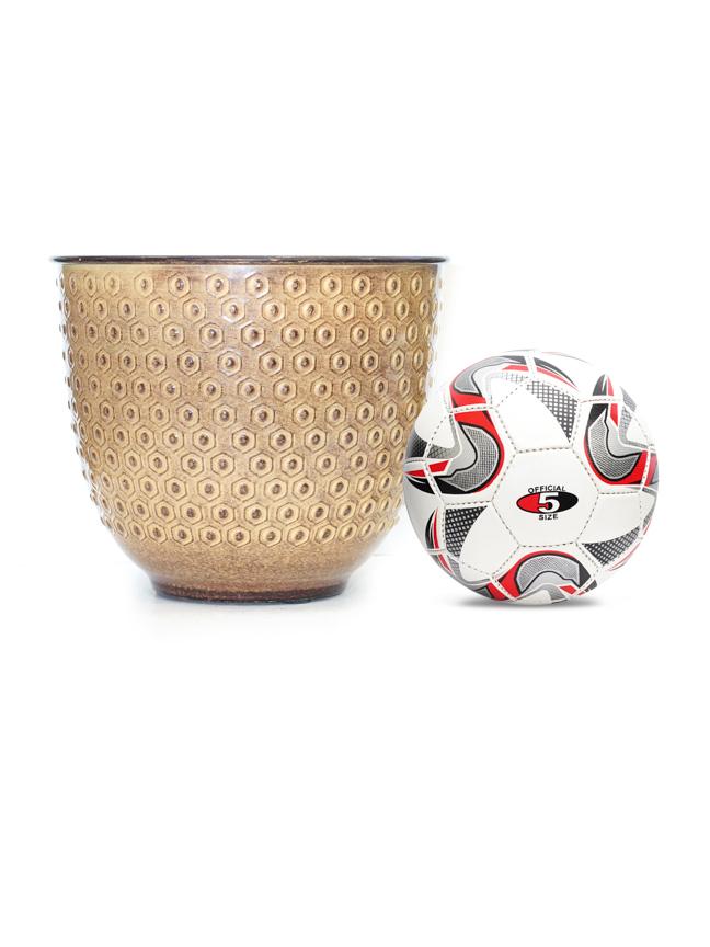 Liguria Pot Round Yellow  'Pots & Vases Ceramic Pots