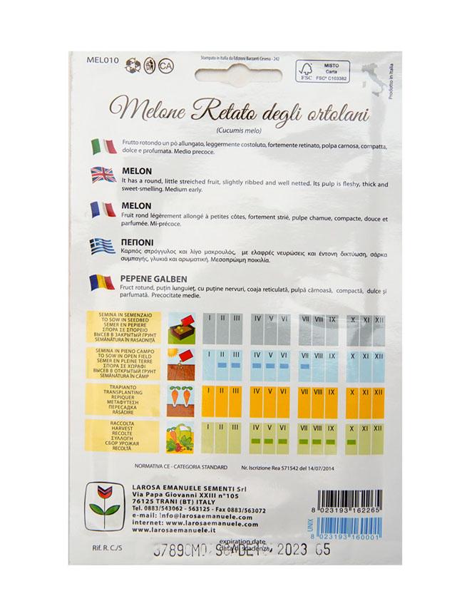 melon retato Seeds Fruits and Vegetables