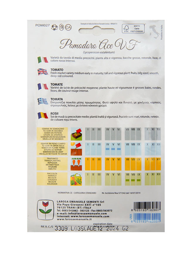 tomato ace Seeds Fruits and Vegetables