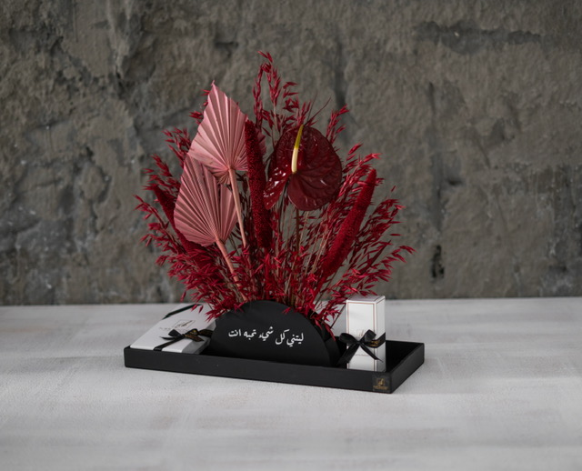 Maroni Red Love  Flower with Base