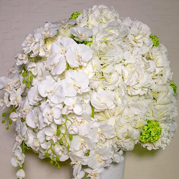 أبيض اصطناعي # 1 نباتات اصطناعية زهور
