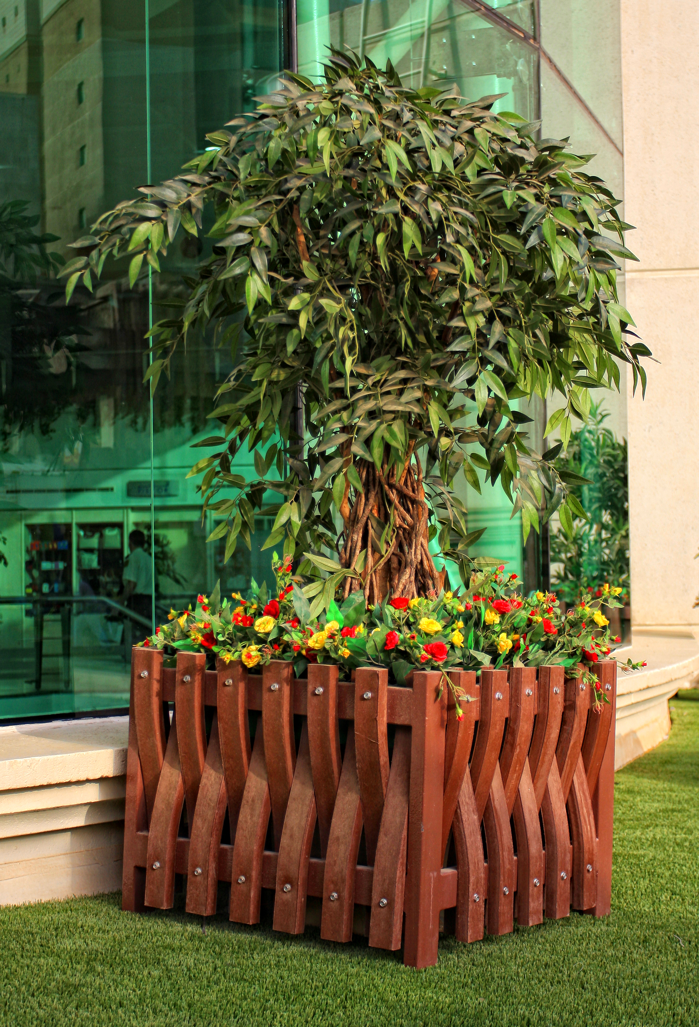 Synthetic Wood Plants Pot Online