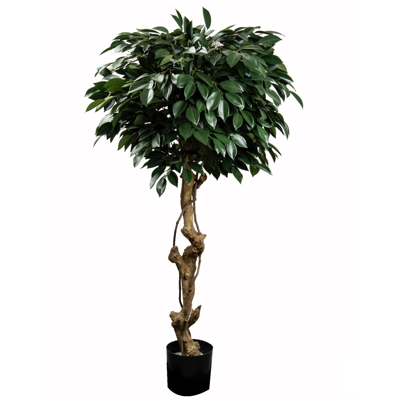 Gold Ficus Folia Tree Artificial Plants