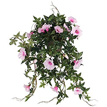 Petunia Hanging Pink with Pot Artificial Plants