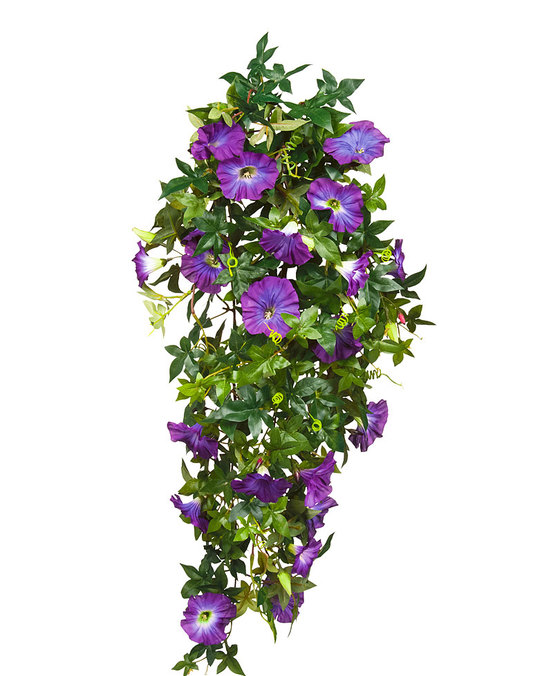 Petunia Hanging Purple Artificial Plants Flower