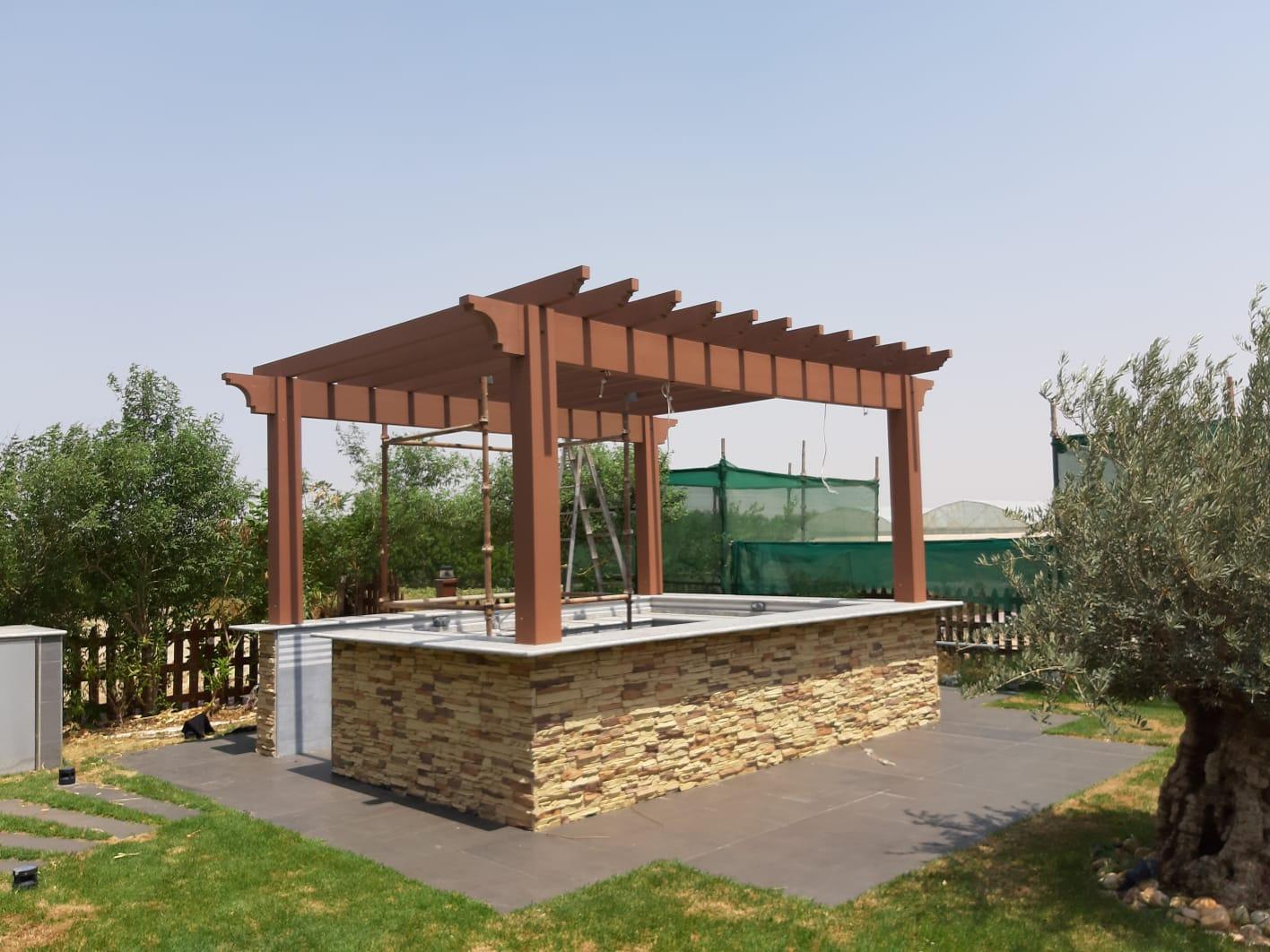 Dura Pergola With Decoration Garden Furniture