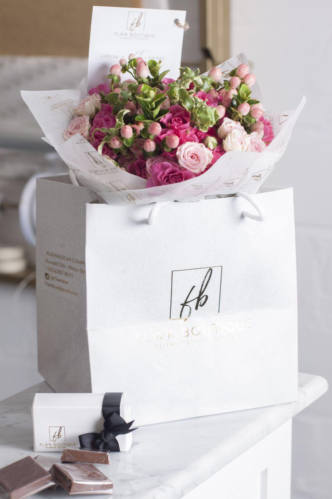 روز بلش باقة زهور