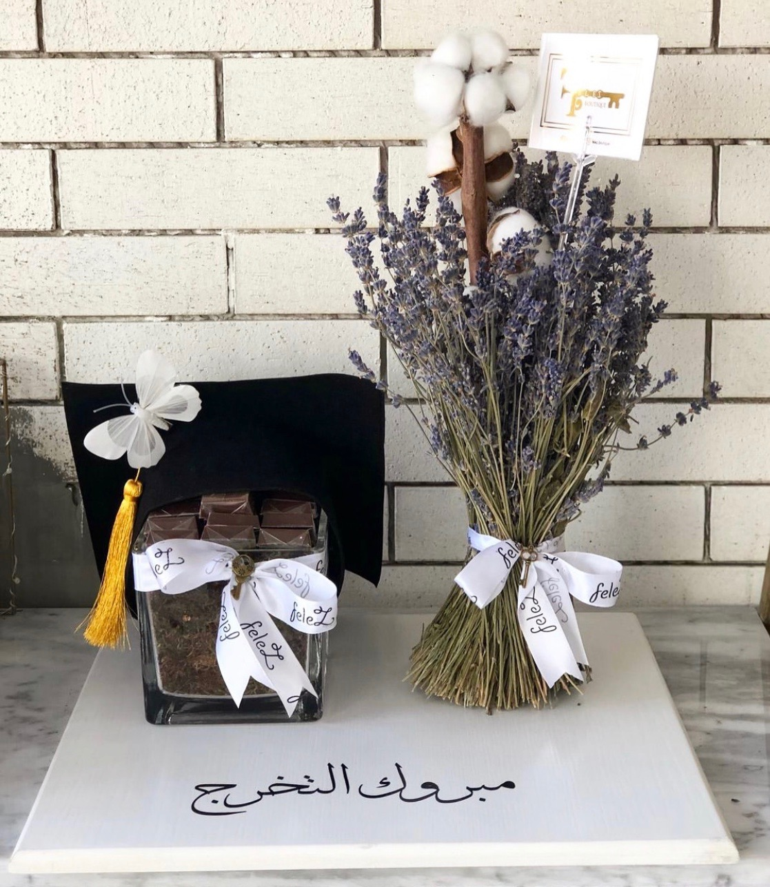 Graduation Gifts 'Flower with Base'