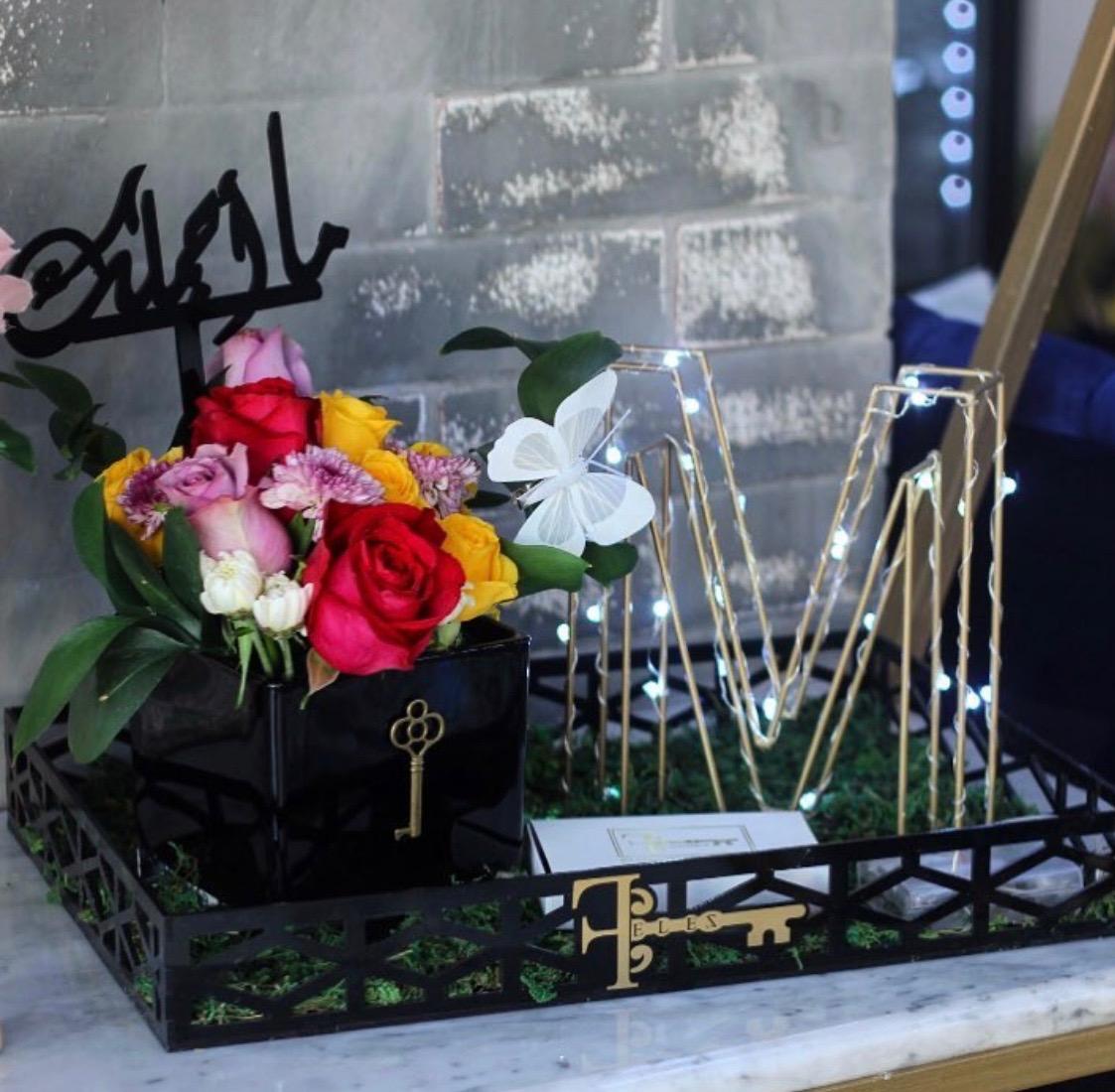 Litter Gift 'Flower with Base'