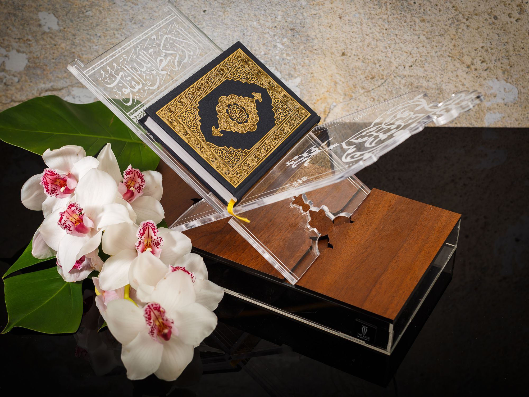quraan stand Flower with Base