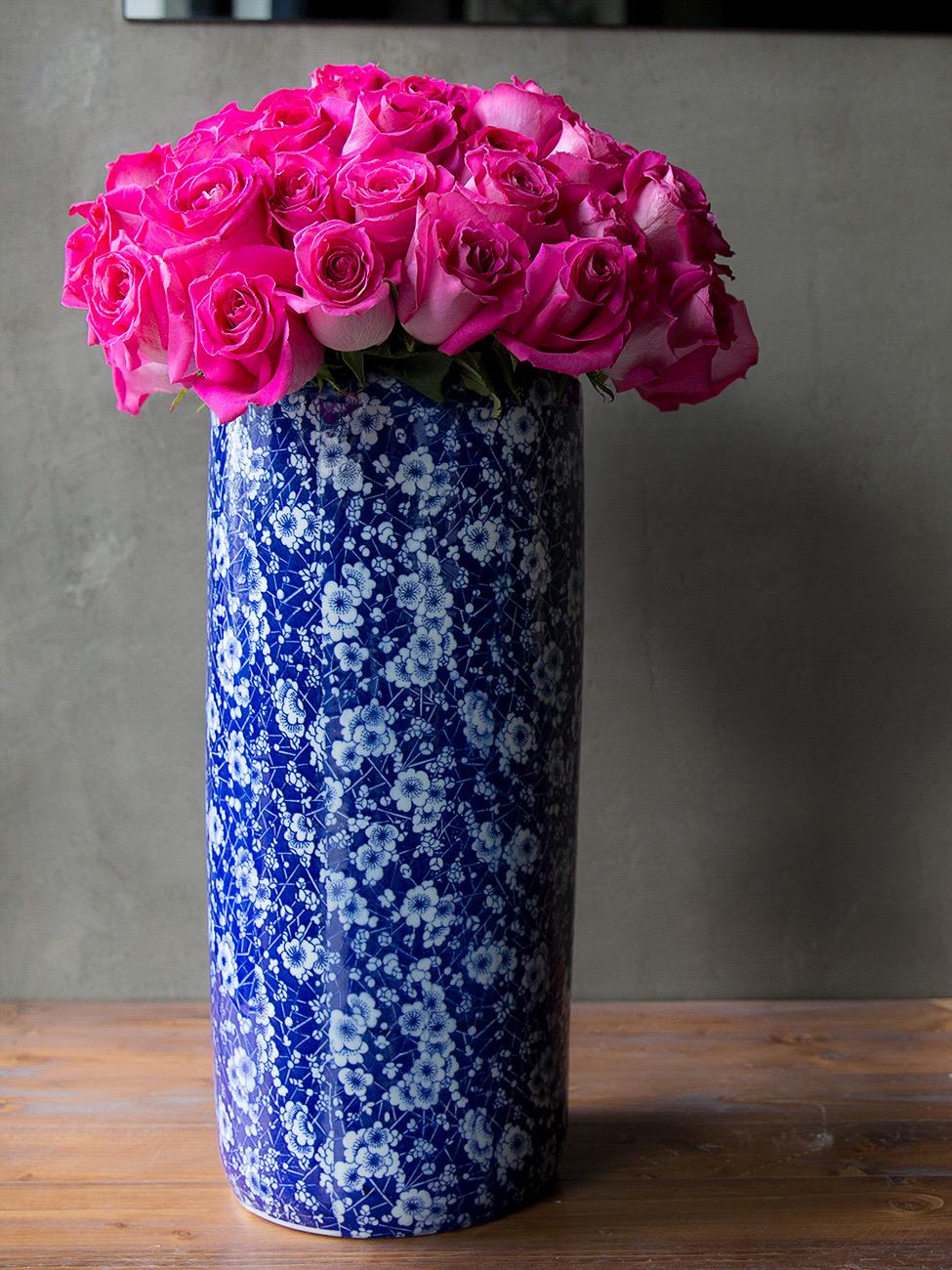 الزينة 'زهور مع قاعدة'