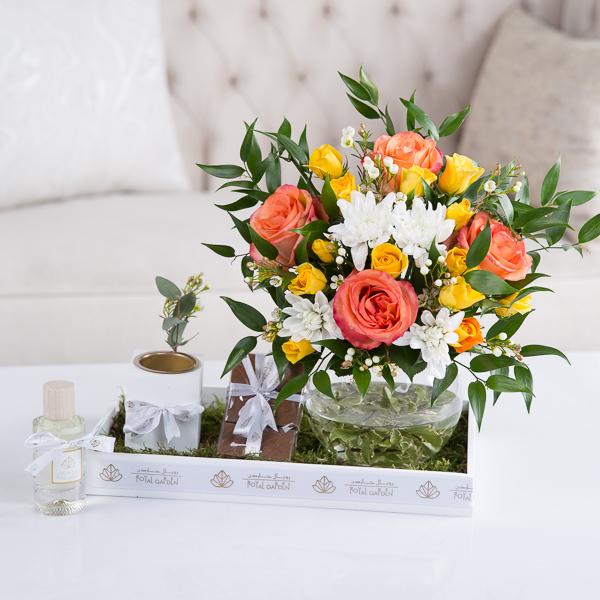 سكايلر زهور مع قاعدة