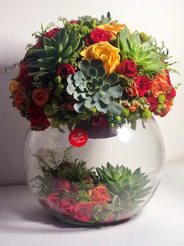 Set Alhessen Flower with Base