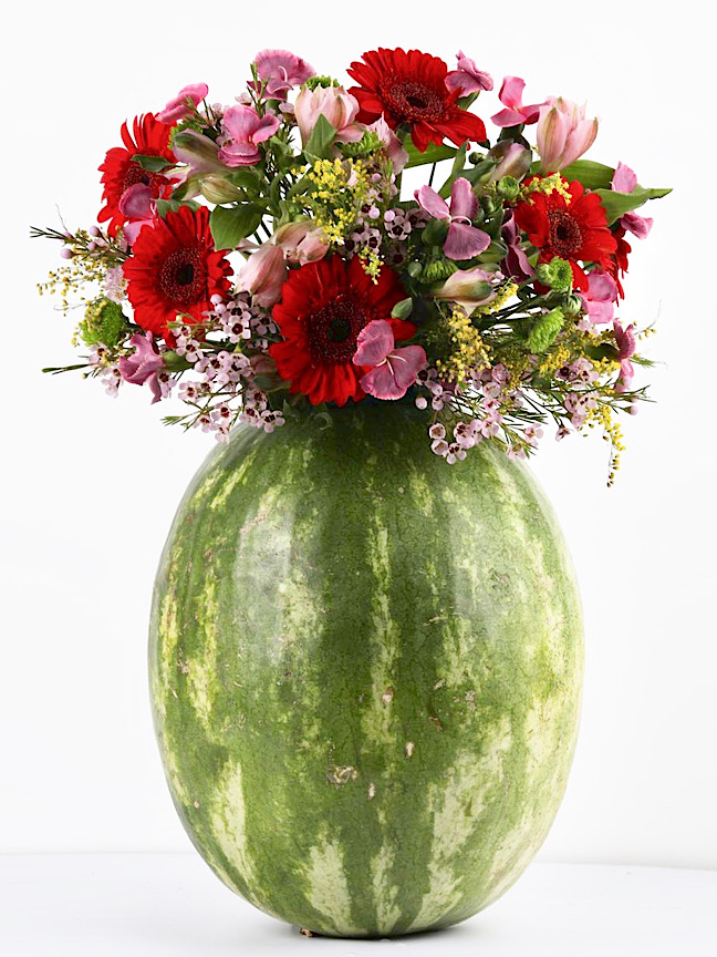 Red Watermelon Flowers2 Flower with Base