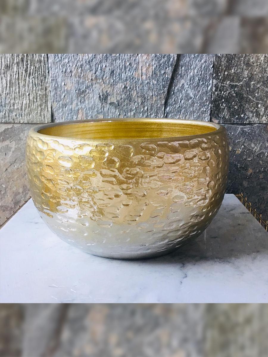 Pot high rel torro sh gold - 1 Pots & Vases