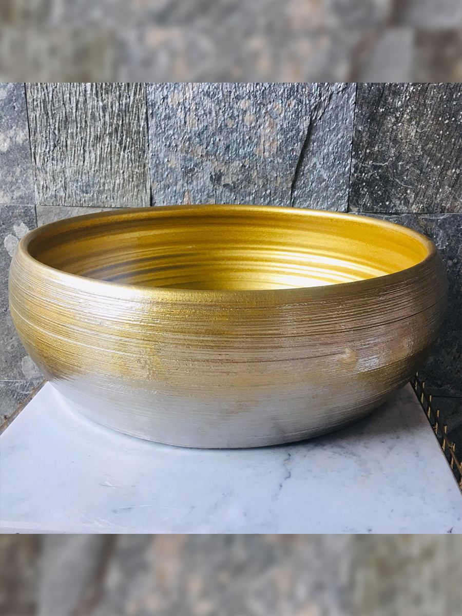Bowl  Kolom  Gold - 4 'Pots & Vases'