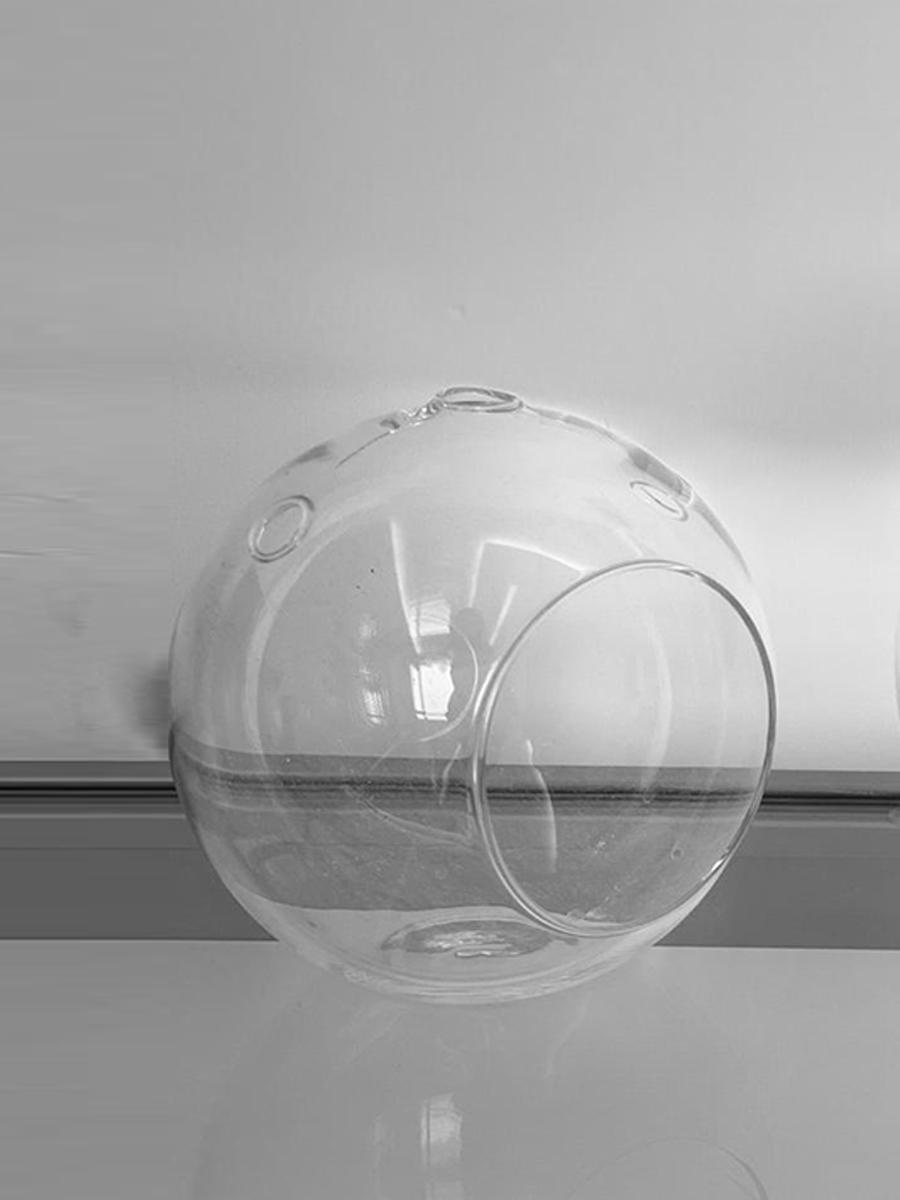 Hanging Round Glass Medium 5pcs package  Pots & Vases