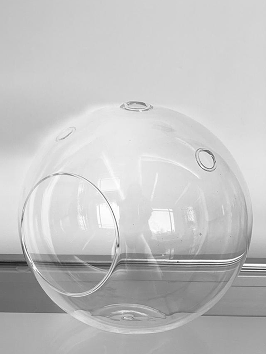 Hanging Round Glass Big 5pcs package  Pots & Vases