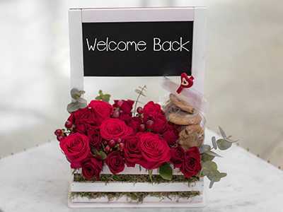 Bouquet With Dedication Welcome back
