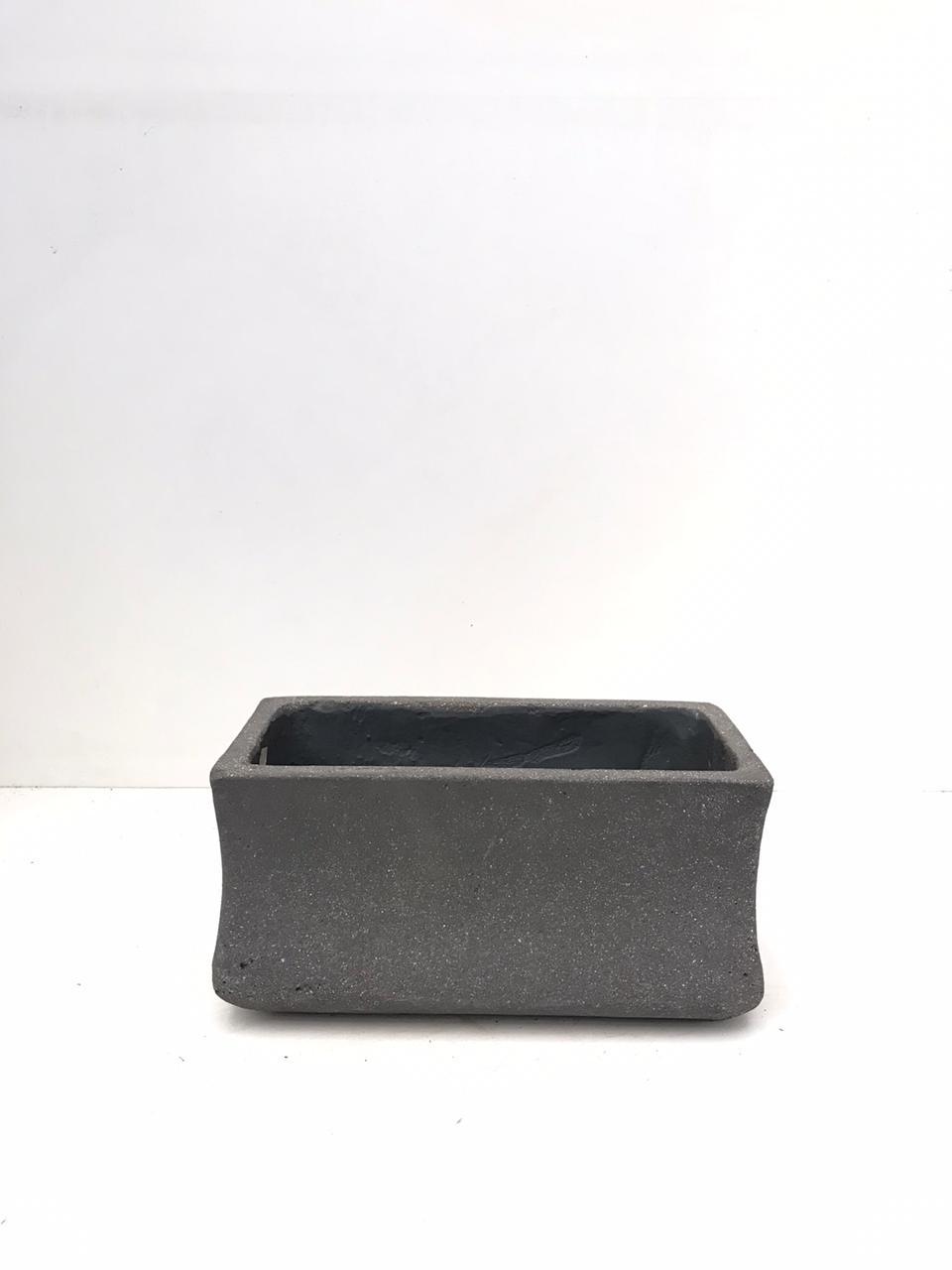 Rect. Ficonstone Pot Small Pots & Vases