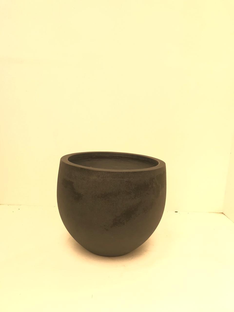 وعاء فيكونستون دائري - أسود صغير 'أواني و مزهريات'