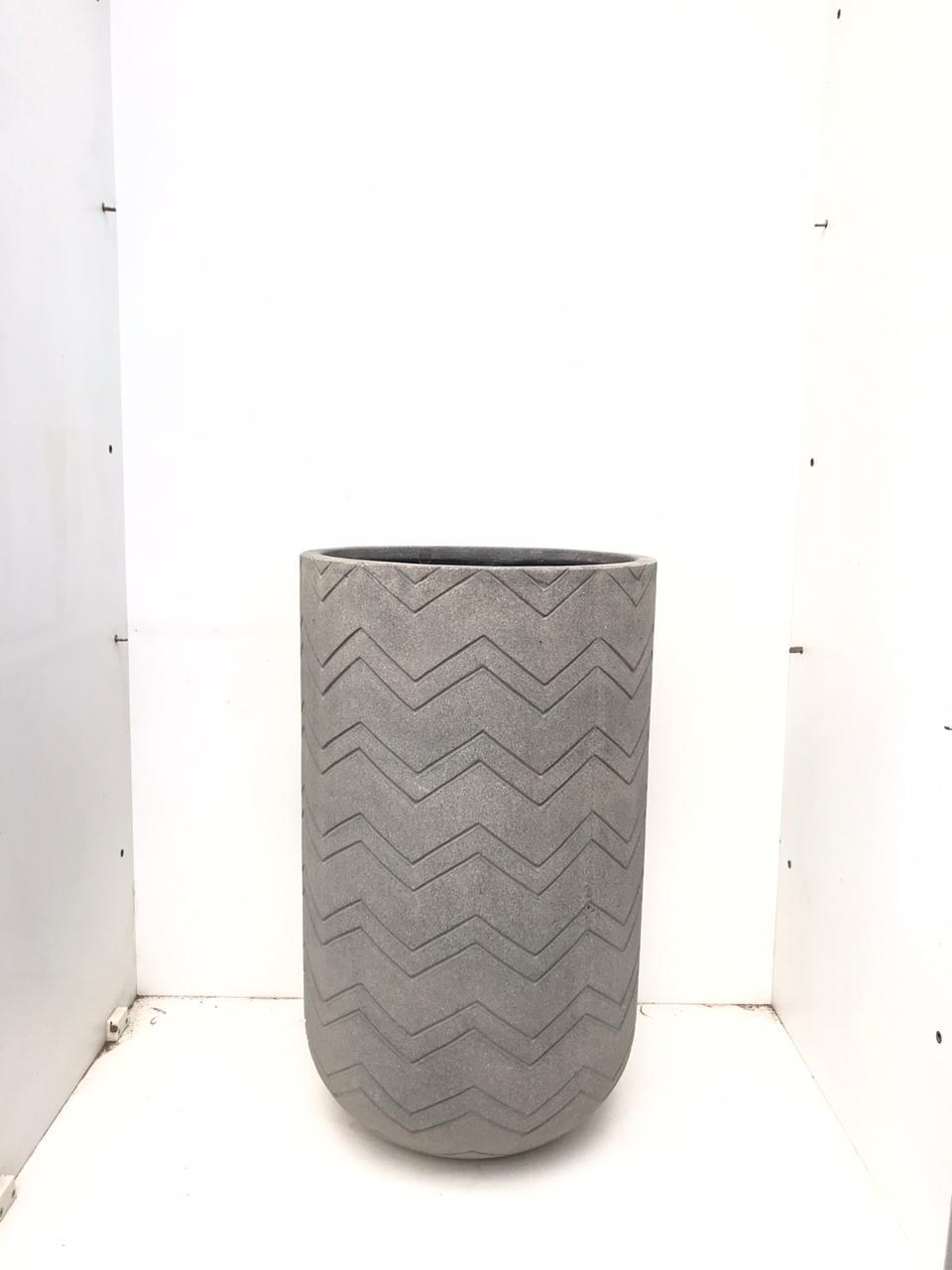 Round Ficonstone  Full Chevron Large Pots & Vases
