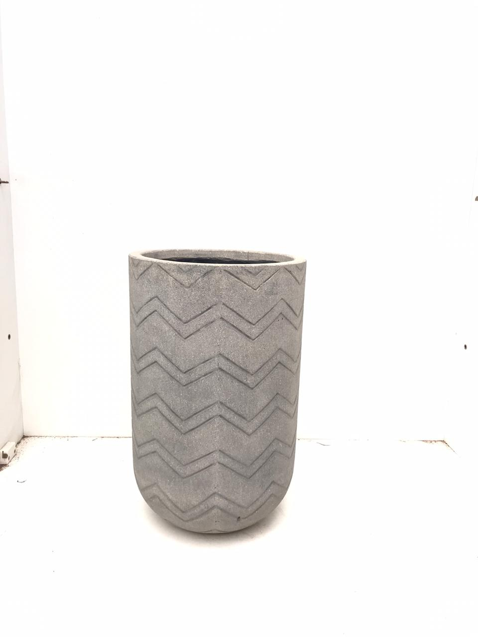 Round Ficonstone  Full Chevron Small 'Pots & Vases'