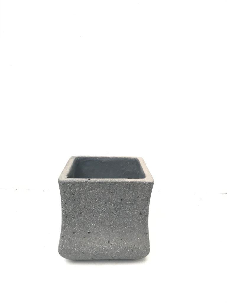 Sq. Ficonstone Pot Plain Small Pots & Vases