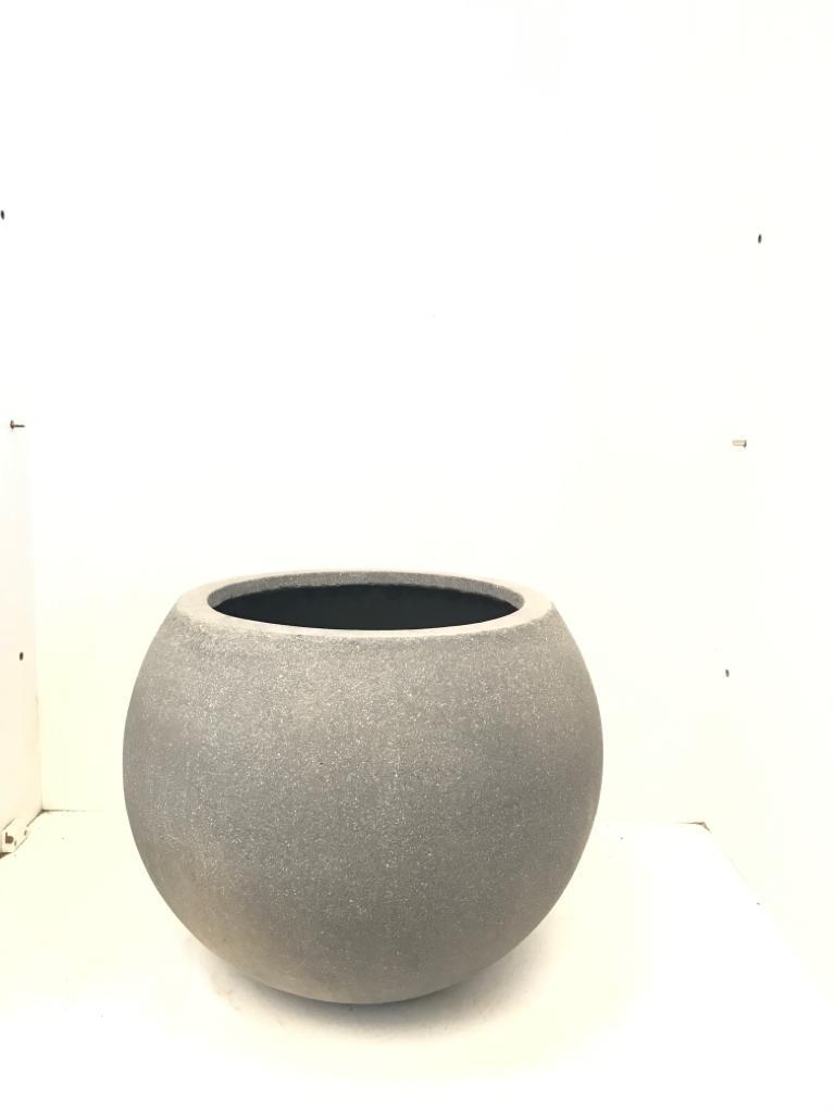 Round Ficonstone Pot Plain  Pots & Vases