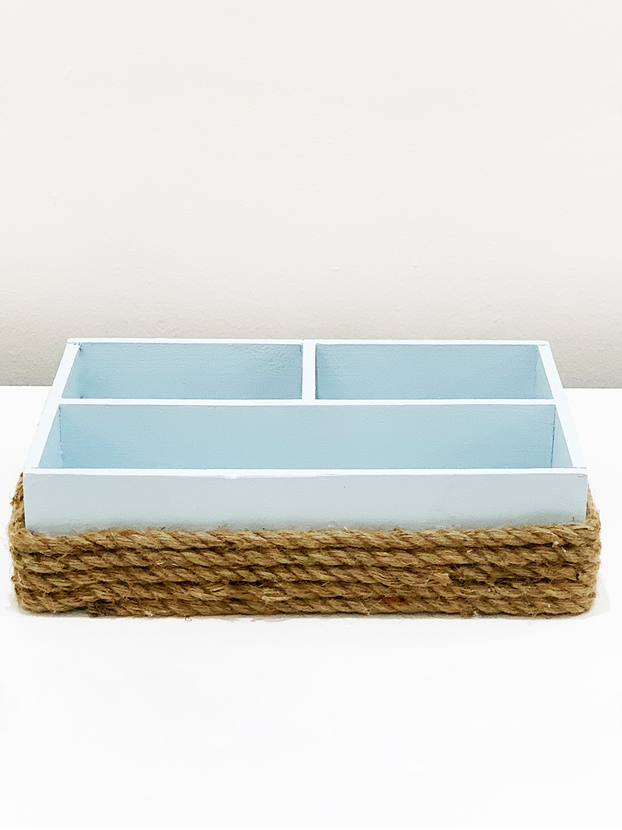 Nautical Burlap Box Blue 1 'Pots & Vases'