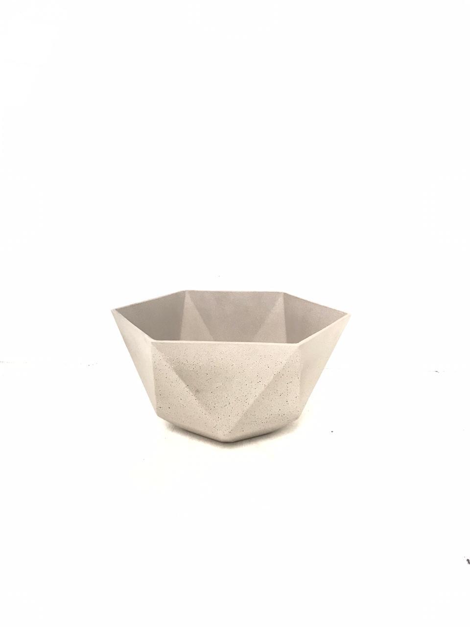 Sandstone Pot Hex Cement Small Pots & Vases